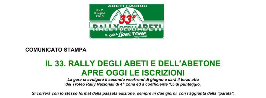 Oggi 7 maggio aperte le iscrizioni al Rally degli Abeti e dell'Abetone