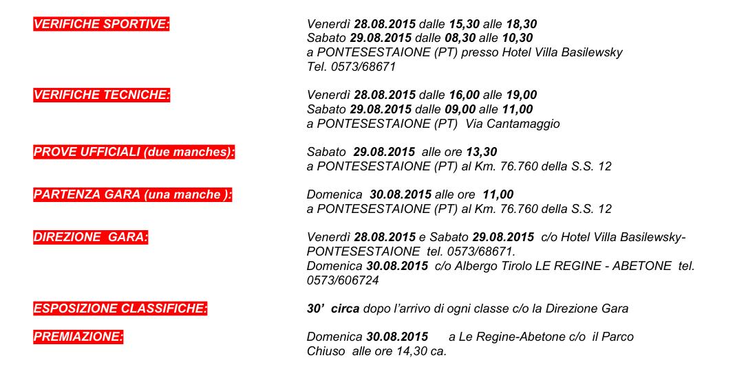 LIMABETONE 2015_COMUNICATO STAMPA 1 -  15 LUGLIO 2015-programma