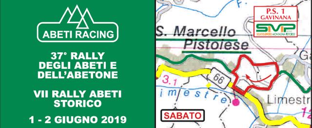 Il percorso del 37° Rally degli Abeti e dell'Abetone e le Tabelle di marcia Moderne e Storiche